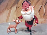 Santa meets Rudolph
