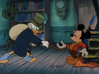 Scrooge and Mickey
