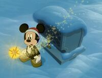 Magic star comes down to Mickey