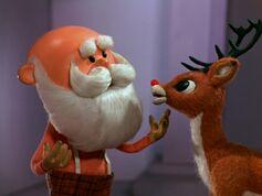 Santa asks Rudolph to guide his sleigh