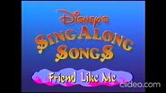 Opening and Closing to Disney's Sing-Along Songs- Friend Like Me 1993 VHS