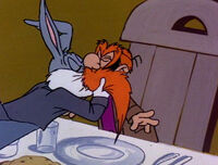 Bugs Kissing Yosemite Sam