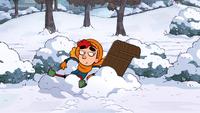 Annie couldn't enjoy sledding