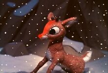Rudolph sadly asks why he doesn't fit in