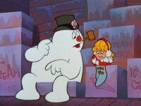 Frosty notices Karen is freezing