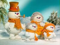 Frosty's stop-motion family