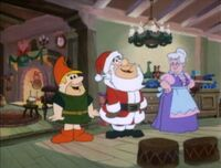Fred and Barney at Santa's workshop