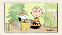 Snoopy ended up in Charlie Brown's gift box