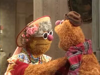 Fozzie greets his mother