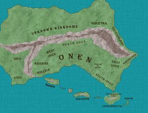 Location of Onen