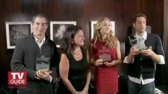 TV_Guide_Awards_2011_Yvonne_Strahovski,_Zachary_Levi_&_Timothy_Dalton