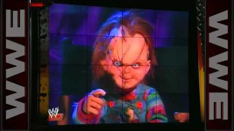 """Rick Steiner encounters Chucky from """"Childs Play"""" on WCW Nitro"""