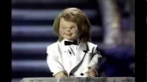 Chucky At the Horror Hall of Fame Awards in 1990