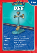Card vee front small