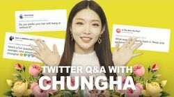 Twitter Q&A with Chungha