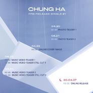 Chung Ha Stay Tonight scheduler
