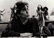On-set photo - director Tim Burton