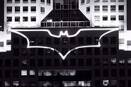 Batsignal at Highmark building