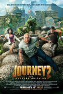 Journey 2 -the mysterious island poster