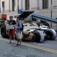 Batmobile on set