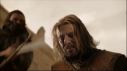Sean Bean at the moment of his death in Game of Thrones-Baelor