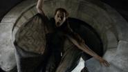 Kate Dickie shoved through the moon door in 'Game of Thrones-Mockingbird'