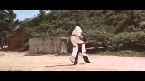 Bruce Lee's deadly groin shot on Bob wall
