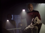Albert Hall's dessicated corpse in Star Trek-The Next Generation-Booby Trap