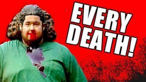 Eddie Snow dying in Lost Parody
