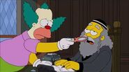 The Simpsons Rabbi Hyman Krustofsky Death scene Funeral