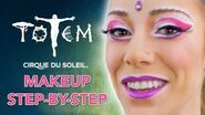 Eye Popping Pink Contouring Tutorial TOTEM Rings Artist Makeup Step-by-Step Cirque du Soleil