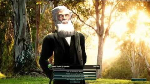Civilization V Mod Leader Henry Parkes of Australia - Colonialist Legacies