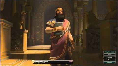Civilization V OST Ashurbanipal War Theme Ancient Assyrian Chant