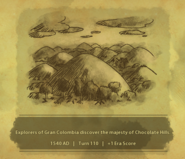 Historic Moment Chocolate Hills (Civ6)