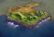 Cliffs in-game (Civ6)
