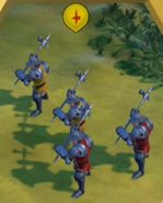 Man-At-Arms in-game (Civ6)