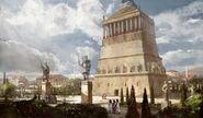 Mausoleum of Halicarnassus completion art (Civ5)
