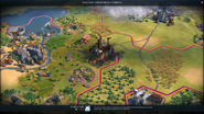 Forest fire in-game (Civ6)