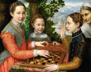 Three Sisters Playing Chess (Civ6)