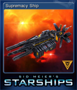 Steam trading card small Supremacy Ship (Starships)