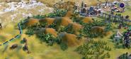 Natural Wonder Chocolate Hills closeup (Civ6)