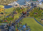 Panama Canal in-game (Civ6)