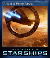 Steam trading card small Arrival at Prime Target (Starships)