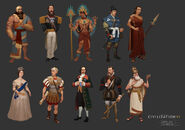 Civ6 Leaders Concept Art
