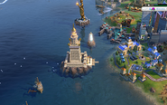Great Lighthouse in-game (Civ6)