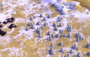 Forest on tundra tile in-game (Civ6)