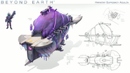 Beyond Earth - Rising Tide - Harmony-Supremacy Aquilon concept art
