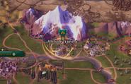 Natural Wonder Mount Everest effect (Civ6)
