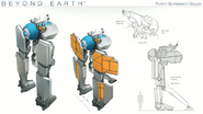 Beyond Earth - Rising Tide - Purity-Supremacy Golem concept art