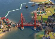 Golden Gate Bridge in-game (Civ6)